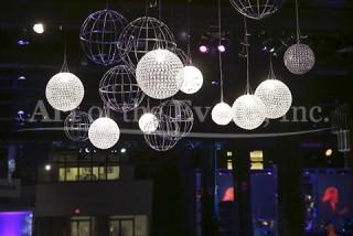 Extravagant lights dazzle guests