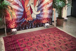 entry way area for Moroccan event