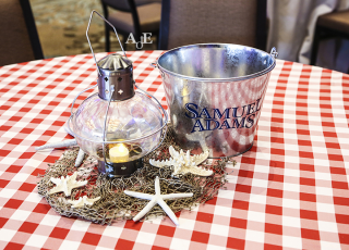 Traditional Nautical lantern centerpieces