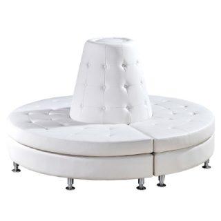 White, Round Banquette Sofa