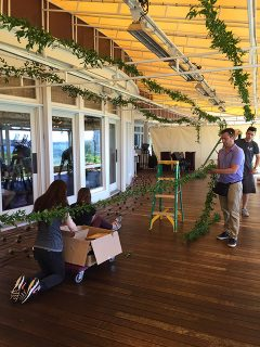 AOTE setting up a wedding in Nantucket