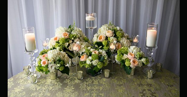 wedding flower display
