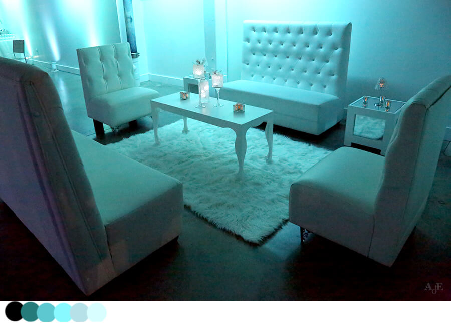 White furniture and white decor
