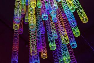 neon colored decorations