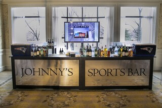 sports bar at birthday party