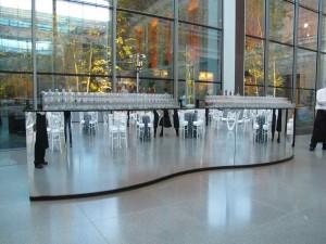 bar at MFA artist opening