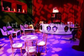 Alice in Wonderland theme bar area