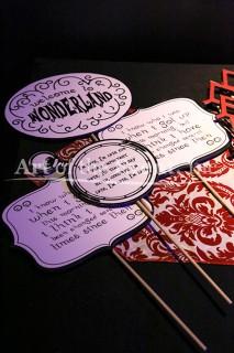 Alice in Wonderland theme supplies