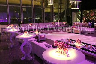purple lighted party room
