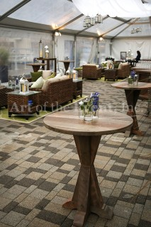 rustic seating area
