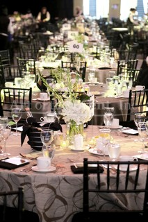 Table Setting, white tablecloth