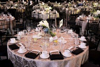 Event table with floral centerpiece