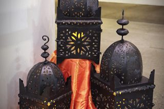 Moroccan themed lanterns
