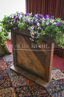 Chateau wooden flower display