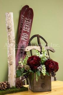 Rustic Floral and Ski