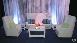 Vienna White Lounge Set with Customized Pillows