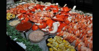 large seafood display