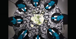 fancy table setting for event