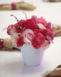 Pink rose floral display