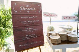Wooden dessert menu sign