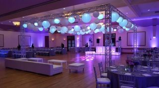 indoor event space with tables