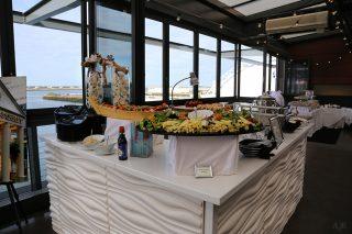 large appetizer display