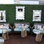 rustic furniture lounge area