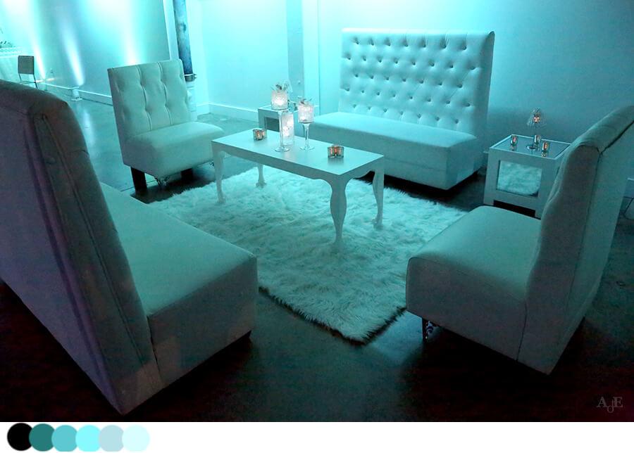 White furniture and white decor