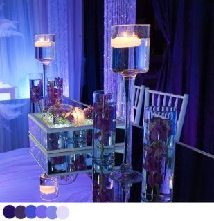 Mirrored table displays