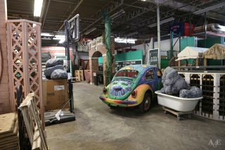Event props in storage warehouse