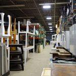 Furniture in storage warehouse