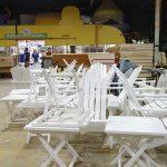 White Adirondack chairs