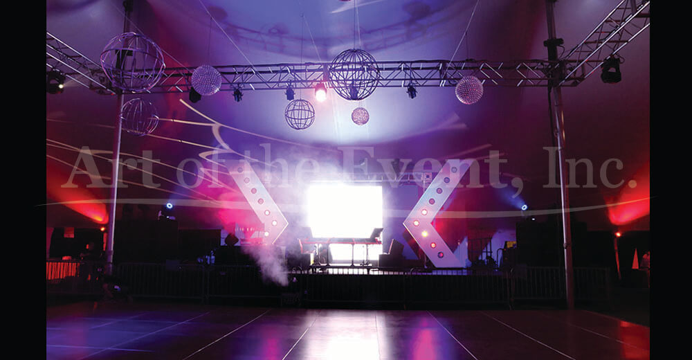 lighted stage