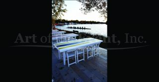 Picnic table at regatta