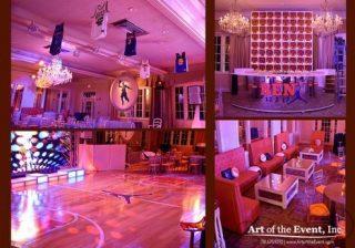 Basketball themed party decor