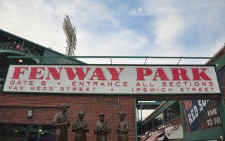 Entrance to Fenway Park in Boston