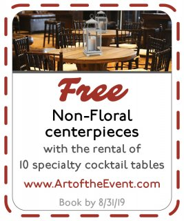 coupon for non-floral centerpieces