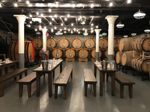 tables and barrels