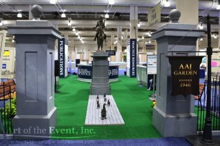 boston common themed trade show booth