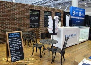 tradeshow booth decor cafe