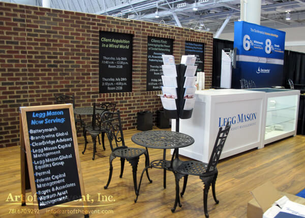 tradeshow booth decor cafe