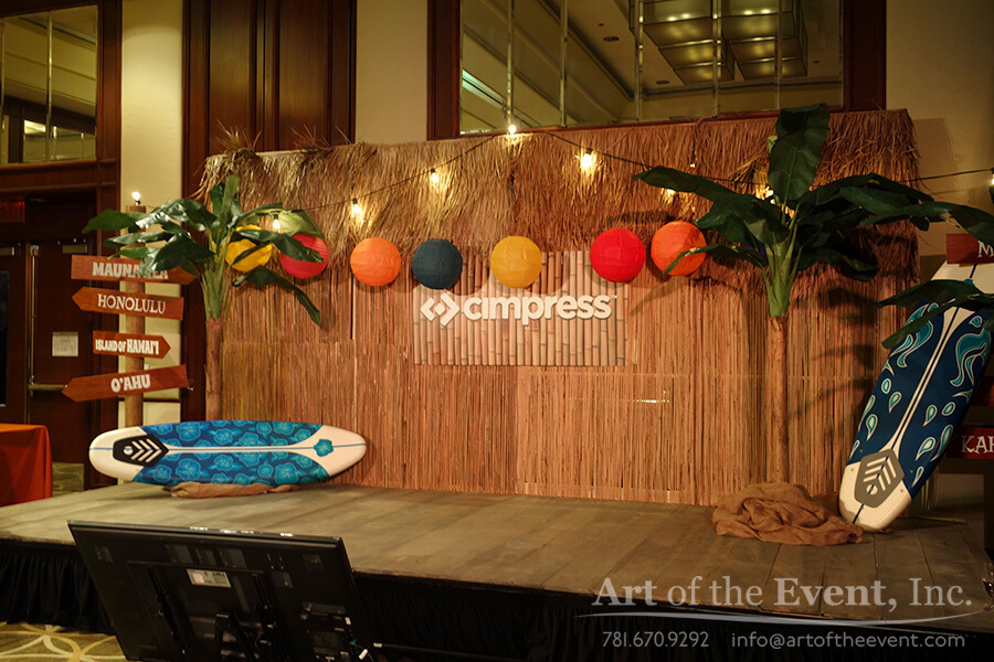stage design hawaiian