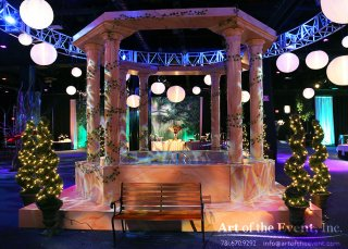 fountain event decor