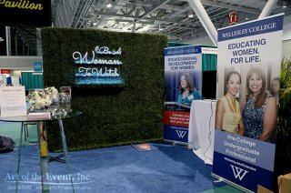 Wellesley College trade show decor