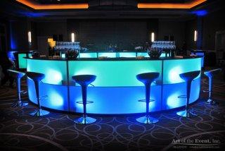 Glow serpentine themed bar
