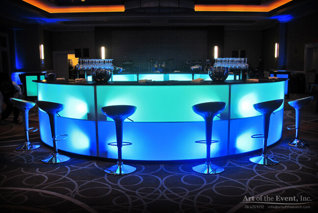Glow serpentine themed bar