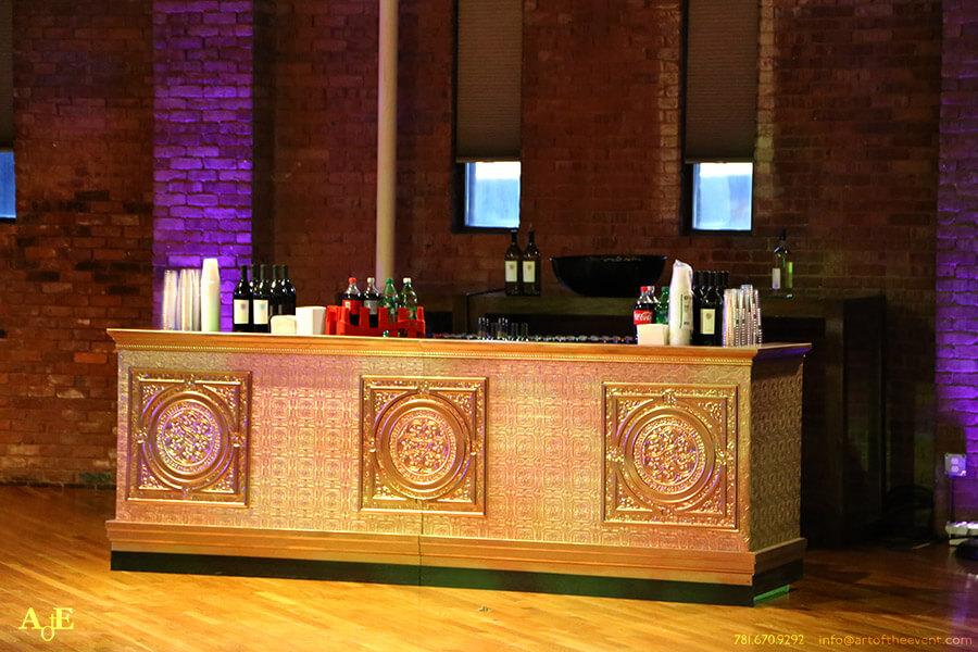 rose gold theme bar